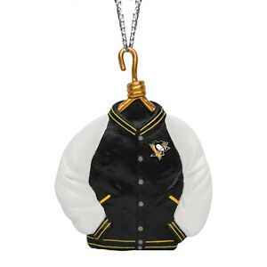 Pittsburgh Penguins Christmas Tree Holiday Ornament New Team Logo Varsity Jacket