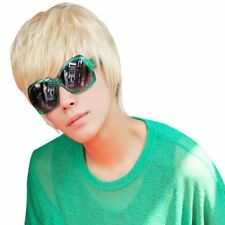 Cheap Short Creamy White Color Wig For Handsome Men High Quality Wig Synthetic