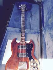 KAY 2B Electric Bass Guitar SG Style Vintage w/ Hard Shell Case