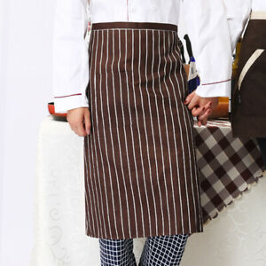 Chef Server Waitress Waiter Bar Works Unisex One Pocket Bistro Long Waist Apron