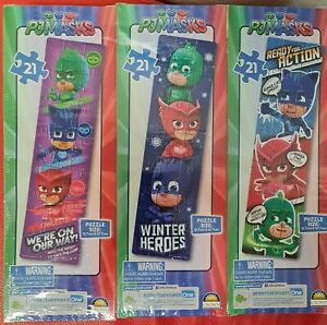 PJMasks 21 Piece Tower Puzzles 3 Pack 12.7 cm x 47.7 cm Puzzle Sizes New Sealed