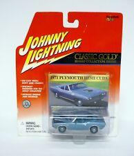 JOHNNY LIGHTNING 1971 PLYMOUTH HEMI CUDA Classic Gold Car Die-Cast MOC 2001