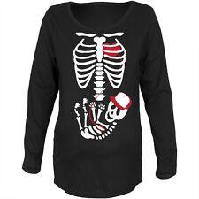 Halloween Baby Boy Skeleton Black Maternity Soft Long Sleeve T-Shirt