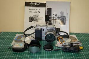 Minolta Dimage 7 Digital Camera with ACT-100 Telephoto Convertor, Mint condition