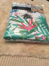 Vinyl Tablecloth 70 Round Summer Tropical Birds Flowers Pineapple (C)