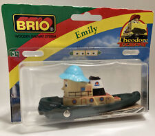 Vintage BRIO Wooden Train Set Tug Boat Emily Theodore Tugboat NIP NEW Thomas