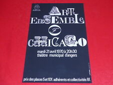[JEAN-JACK MARTIN AFFICHISTE GENIAL] ART ENSEMBLE OF CHICAGO 70 JAZZ Angers AMCA
