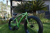 NEW 3 SPEED ALUMINUM FAT TIRE BEACH BIKES | Camaro Green Frame/Black Wheels