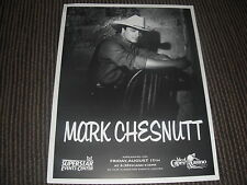 Mark Chesnutt Country Headshot 8.5x11 B&W Publicity Photo #2