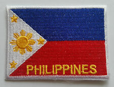 NATIONAL OLYMPIC COUNTRY FLAG (SMALL) SEW ON / IRON ON PATCH:- PHILIPPINES