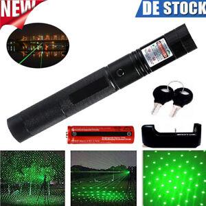 Laserpointer 303 Grün 1MW 532NM Mini Laser Taschenlampe mit Akku & Ladegerät DHL