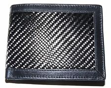 RFID Blocking Carbon Fibre Luxury Leather Wallet With Coin Pocket PrimeHide