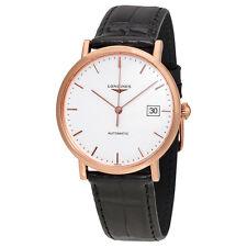 Longines La Grande Classique Automatic White Dial Brown Leather  Mens Watch