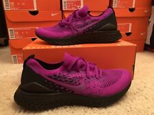 NEW! Men's Nike Epic React Flyknit 2 Vivid Purple Running Shoes BQ8928-500