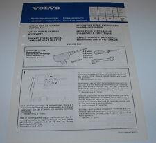 Einbauanleitung Volvo 340 Steckdose für elektrischen Motorwärmer August 1980!