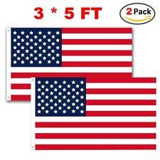 American Us Flags 2 pack 3x5 Home Garden Polyester Nylon Flag Brass Grommets