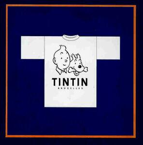 Tintin T-Shirt - The Adventures of Tintin - Adult XL White - Herge / Moulinsart