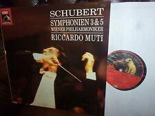 Schubert Symphony 3 & 5, Wiener Philharmoniker, Muti, EMI digital 1989
