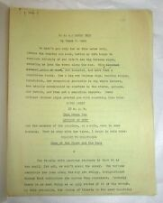 "James M. CAIN ORIGINAL TYPESCRIPT OF AN ESSAY TITLED ""U. S. A.: ROUND TRIP"""