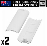 Wii Remote Battery Cover x 2 (White) for Nintendo Wiimote Controller Replacement