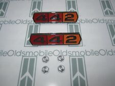"""1964-1965 Olds Cutlass """"442"""" Emblems (2) w/ Hardware 