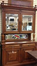 1800s antique hutch cabinet with mirrored back Lot 22