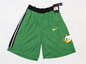 Nike Oregon Ducks Basketball Shorts Zip Pocket Green CD1971-377 Men's Sz L