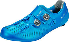 Shimano S-Phyre 44.5 RC901 Cycling Race Shoe Blue Carbon Sole Road Race Dual Boa