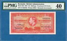 Bermuda / British Admin., 10 Shillings, 1937, EF-PMG40, P10b