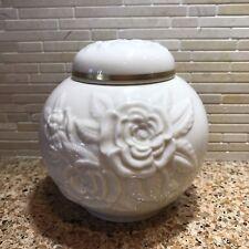 24K Gold Lenox Flowered Jar & Lid