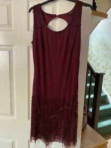 Roman Originals 20s Gatsby Flapper Beaded Special Event Dress Size 18 Worn once.