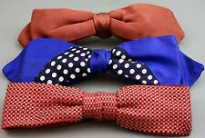 LOT OF 3 VINTAGE MEN'S CLIP-ON BOW TIES-BEAU/U-CLIP/ORMOND  #1