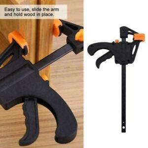 """4"""" Woodworking Clip Bar Clamp F-tyle Grip Quick Ratchet Best A+ K2H5 B5Q7 Gift"""