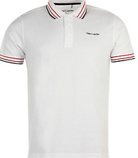 Teddy Smith Pasian Polo White/Red/Blue Men's UK Size Large *REF114*