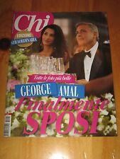 CHI 2014 OCTOBER=ITALIAN MAGAZINE=EXCLUSIVE George Clooney Wife Amal Alam