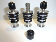 Lot 3 Ss9000 Niles Stainless Steel Bottle Topper/Wine Stopper Wood Turning Kits