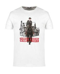WEEKEND OFFENDER MEN'S THOMAS SHELBY PEAKY BLINDERS T-SHIRT WHITE / SALE
