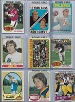 1970's Vintage QB Rookie Lot of (14) Stabler Staubach Tarkenton Bradshaw BV$128