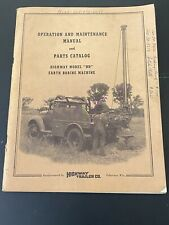 Vintage Highway Trailer Ind Inc Water Oil Well Boring Drill Rig Manual Hd