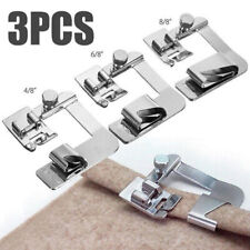 3Pcs/set Domestic Sewing Machine Foot Presser Rolled Hem Feet for Brother Si TO