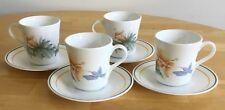 4 Sets Corelle Hummingbird  Cups & Saucers 8pcs USA