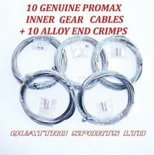 10 X INNER GEAR CABLES + CRIMP ENDS, ROAD, MTB, SHIMANO ETC.