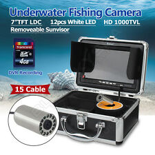 "EYOYO 7"" LCD Underwater Video Camera Fish Finder w/DVR Function LEDS 1000TVL"