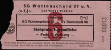 Ticket II. BL 87/88 SG Wattenscheid 09 - SV Darmstadt 98