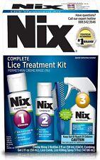 Nix Complete Lice Treatment Kit Kills Lice & Eggs Rinse Gel Spray 01/2022 NEW