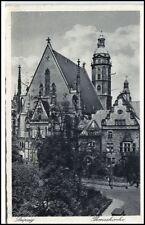 LEIPZIG Sachsen 1941 Dt. Reich AK Strassen Partie Thomaskirche Kirche Church