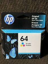 HP 64 Ink Cartridge Color NEW Genuine Exp 8/2020
