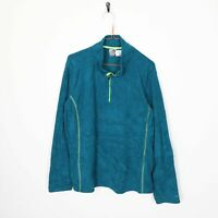 Vintage C9 By CHAMPION Small Logo 1/4 Zip Fleece Tip Blue | 2XL