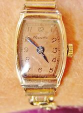 Ladies 1940s Rolled Gold Nivada Mechanical Bracelet Watch Serviced + Warranty