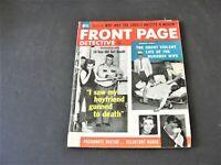 Front Page Detective- I saw my Boyfriend Gunned to Death-August 1958, Magazine.